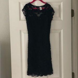H&M black lace mini dress